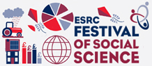 esrc festival title and pictures of graphs and pie charts