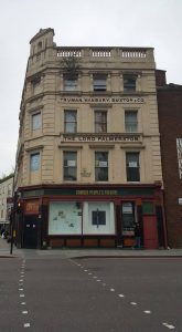 Cream Victorian building
